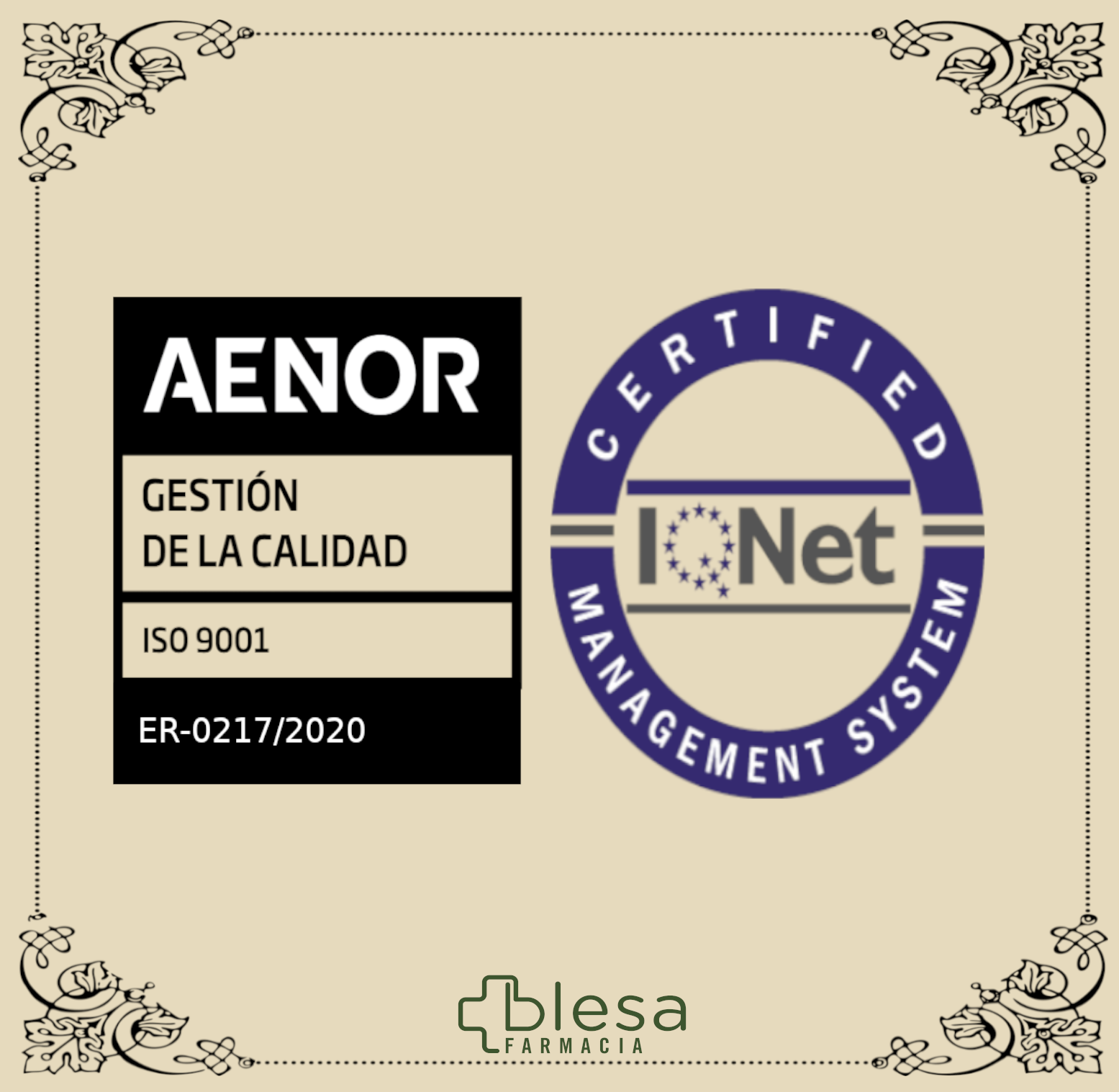Certificación ISO 9001:2015 y el certificado iQNET superado con éxito